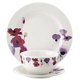 watercolour poppy 12 piece dinner set 10 sainsbury 39 s. Black Bedroom Furniture Sets. Home Design Ideas