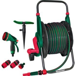 qualcast garden complete hose set 25m argos. Black Bedroom Furniture Sets. Home Design Ideas