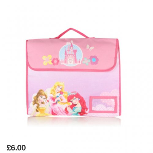 princess book bag 6 asda direct hotukdeals. Black Bedroom Furniture Sets. Home Design Ideas