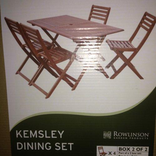 Morrisons Garden Table And Chairs Set: Kemsley Five Piece Garden Set £50 @ Morrisons