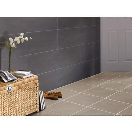 luna porcelain wall floor tile black beige pack 0. Black Bedroom Furniture Sets. Home Design Ideas