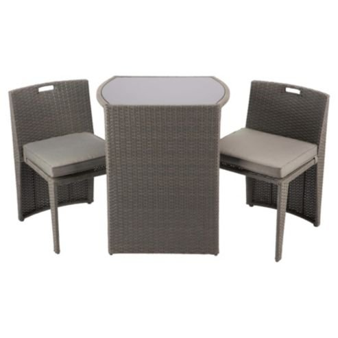 Cube bistro garden furniture set taupe was 200 now 40 for Garden furniture set deals