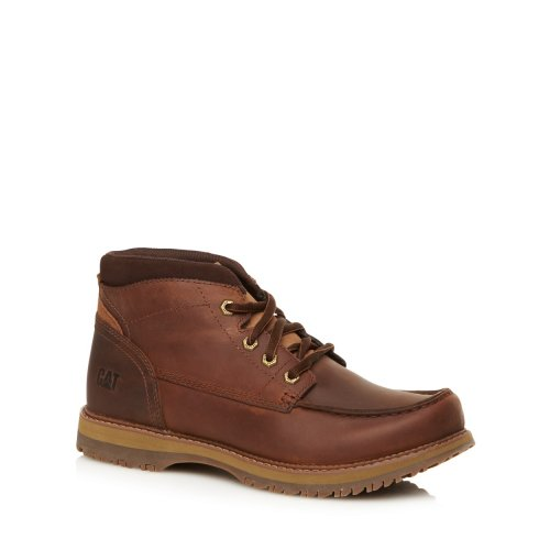 cat brown leather apron ankle boots mens 163 36 at