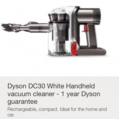 dyson dc30 refurbished handheld vacuum cleaner. Black Bedroom Furniture Sets. Home Design Ideas