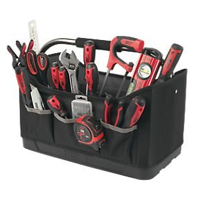 screwfix forge steel 56 piece tool kit and tote bag. Black Bedroom Furniture Sets. Home Design Ideas