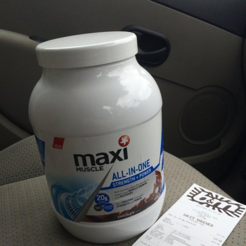 Protein Shaker Leeds: Maxi Muscle All In One Protein Shake Chocolate 990g £12.99