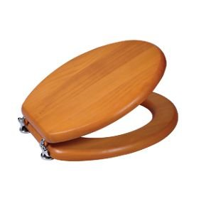 toilet seat solid wood 3 colours to pick from. Black Bedroom Furniture Sets. Home Design Ideas