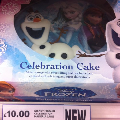 Frozen Birthday Cake 163 10 In Tesco Hotukdeals