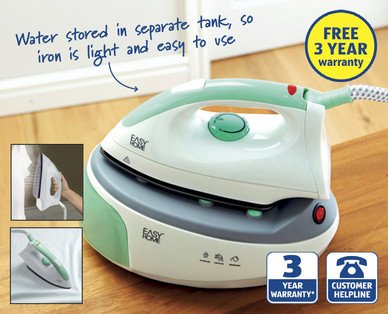 aldi easy home steam generator iron instructions