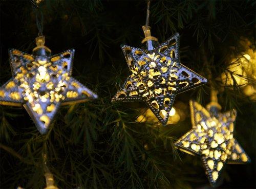 Solalux Set Of 12 Moroccan Solar String Lanterns Led Fairy