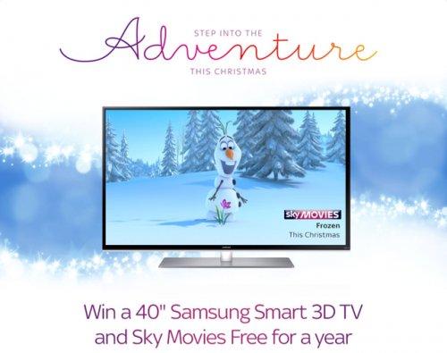win a 40 samsung smart 3d tv sky movies for a year sky hotukdeals. Black Bedroom Furniture Sets. Home Design Ideas