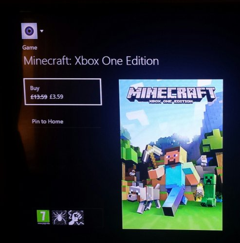 xbox one minecraft download price