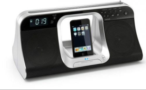 lenco docking station speaker alarm clock radio for apple. Black Bedroom Furniture Sets. Home Design Ideas