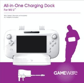 Gameware wii u all in one charging dock white for Wii u tablet charger