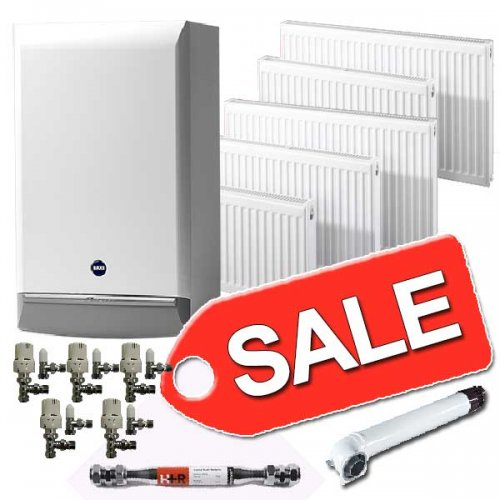 baxi boiler 7years warranty 5 radiators valves 893 mr central heating hotukdeals. Black Bedroom Furniture Sets. Home Design Ideas