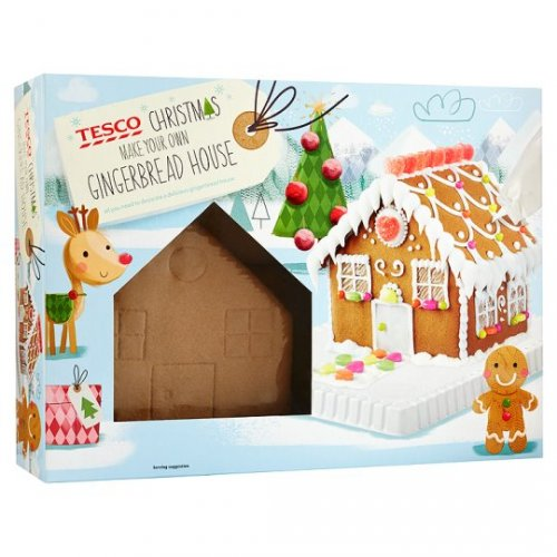 Tesco Gingerbread House Kit 570g Half Price Was Now