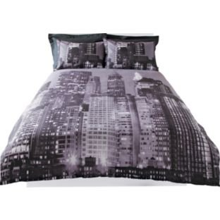 new york skyline bedding set kingsize argos. Black Bedroom Furniture Sets. Home Design Ideas