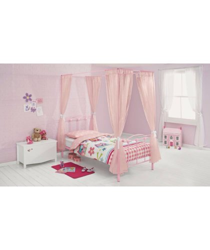 Pink Princess Single Four Poster Bed Frame At Argos
