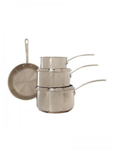 copper bottom 4 saucepan set house of fraser 50. Black Bedroom Furniture Sets. Home Design Ideas