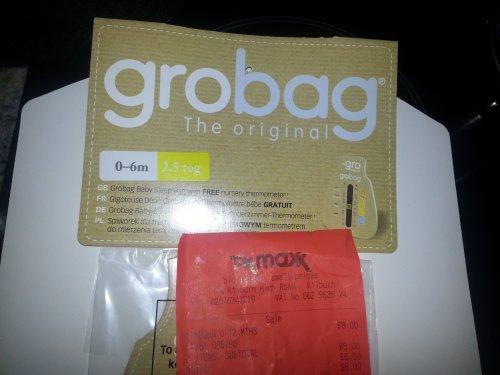 baby grobag sleeping bag 8 tk maxx clearance hotukdeals. Black Bedroom Furniture Sets. Home Design Ideas