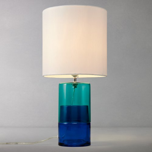 Glass Table Lamp John Deere : Molly glass table lamp blue green john lewis hotukdeals
