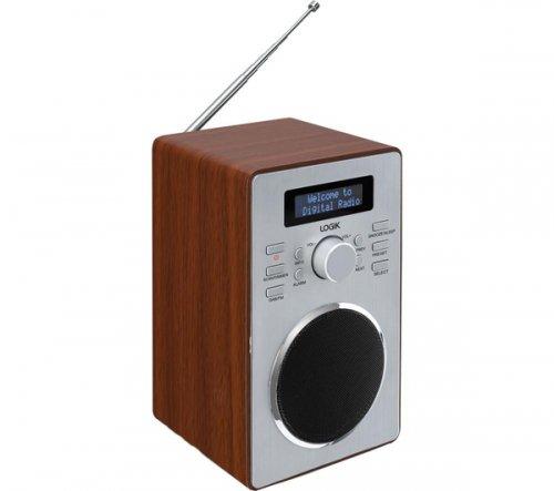 currys logik lbdab14 dab clock radio wood. Black Bedroom Furniture Sets. Home Design Ideas