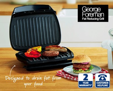 george foreman family grill aldi hotukdeals. Black Bedroom Furniture Sets. Home Design Ideas