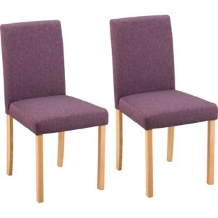 4 Aston Pair Of Fabric Dining Chairs Purple Bogohp