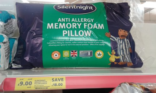 Silentnight Memory Foam Traditional Pillow Review : Silentnight Memory Foam Anti allergy Pillow. ?9 Tesco, in store and online. - HotUKDeals