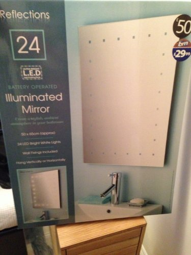 Reflections large illuminated (battery operated) bathroom mirror u00a329 ...