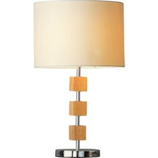 Now brugeswood table lamp chrome argos hotukdeals for Table lamps argos