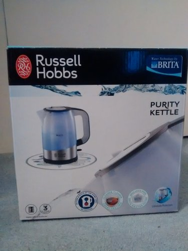 russell hobbs brita purity kettle stainless steel tesco. Black Bedroom Furniture Sets. Home Design Ideas