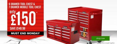 halfords 7 drawer mobile tool chest and halfords 6 drawer. Black Bedroom Furniture Sets. Home Design Ideas