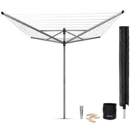 brabantia 50m liftomatic rotary airer dunelm at. Black Bedroom Furniture Sets. Home Design Ideas