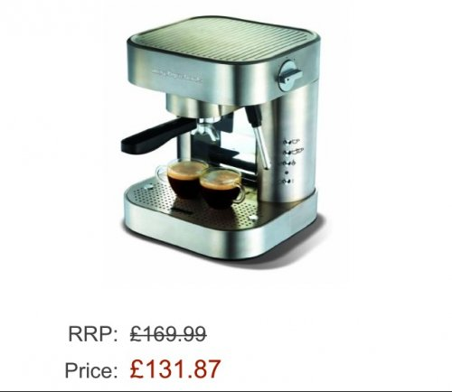 Morphy Richards Elipta 47155 Automatic Espresso Maker - Brushed Stainless Steel ?43.06 @ Amazon ...