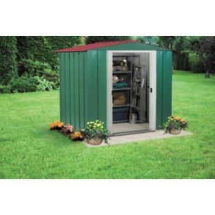 Arrow apex metal garden shed 6x5ft argos for Best deals on garden sheds