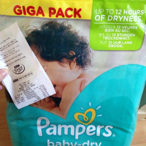pampers baby dry giga pack asda hotukdeals. Black Bedroom Furniture Sets. Home Design Ideas
