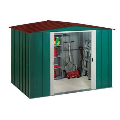Arrow apex metal garden shed 8 x 6ft homebase for Best deals on garden sheds