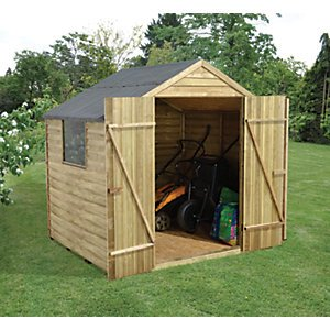 pressure treated double door shed 7x5 wickes. Black Bedroom Furniture Sets. Home Design Ideas