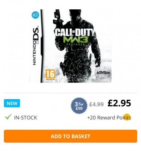 Call Of Duty 2 3ds : Call of duty modern warfare ds £ delivered