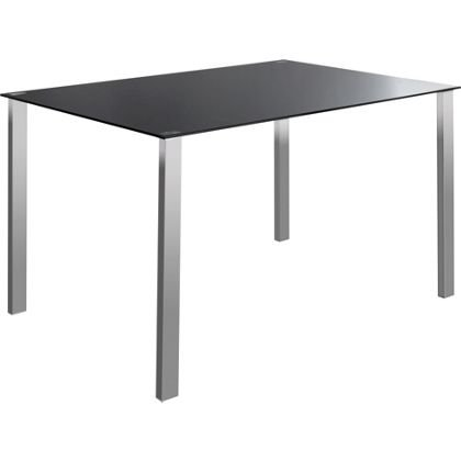 Hygena Naples Black Glass Dining Table Homebase