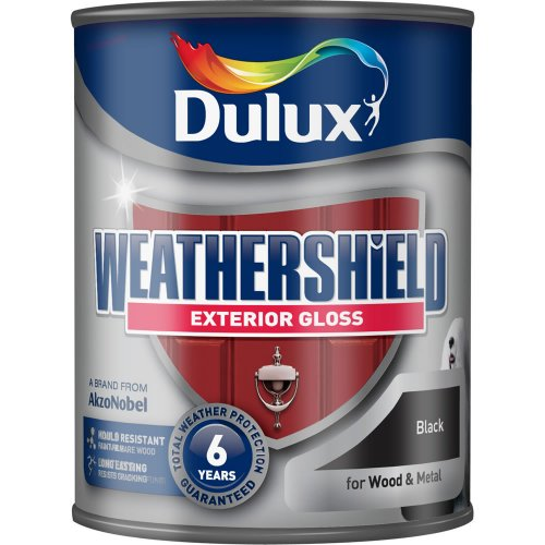 Dulux weathershield exterior gloss paint black 750ml 9 wilko hotukdeals - Dulux weathershield exterior paint minimalist ...