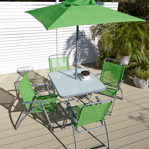 B Q Blooma Bahama 6 Piece Garden Patio Furniture Table 4 Chairs And Pa