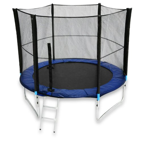 16 Foot Trampoline With Safety Enclosure Net Ladder And