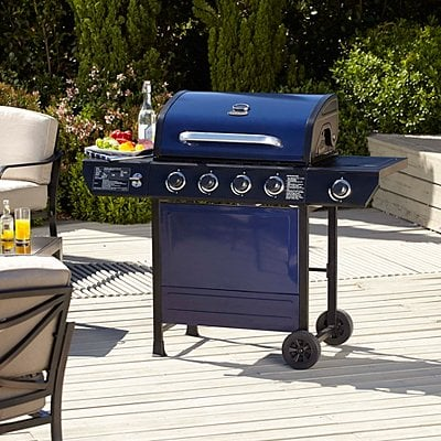 4 burner bbq with side gas grill 129 asda george. Black Bedroom Furniture Sets. Home Design Ideas