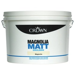 Crown 10l magnolia pure brilliant white matt emulsion 6 for Ka che magnolia matt
