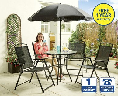 Essentials 6 piece garden furniture set aldi for Garden furniture set deals
