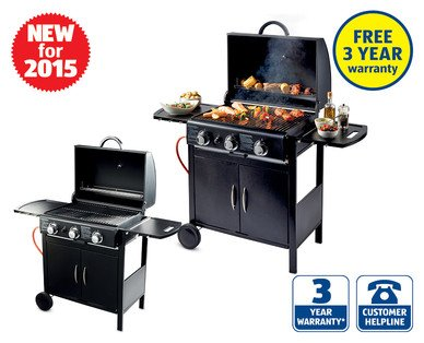 3 burner gas barbecue aldi from 4 june norris green hotukdeals. Black Bedroom Furniture Sets. Home Design Ideas