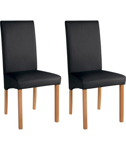 Argos Table And Chairs In Sale: Heart Of House Pair Of Black Skirted Dining Chairs Half