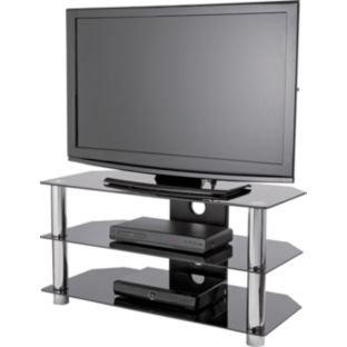 black glass 42 inch slimline tv stand at argos tv not included hotukdeals. Black Bedroom Furniture Sets. Home Design Ideas